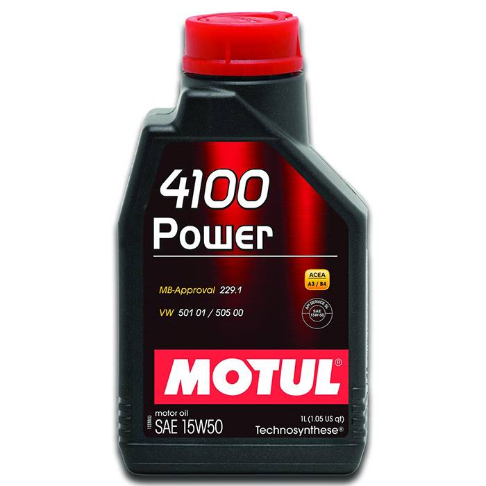 Óleo Lubrificante para Motor Motul 4100 Power 15W50 Technosynthese® 1L - Street Solutions