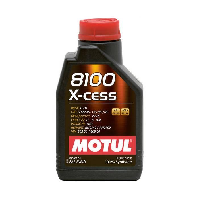 Óleo Lubrificante para Motor Motul 8100 X-CESS 5W40 100% Sintético 1L - Street Solutions
