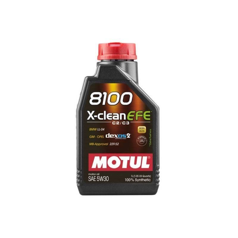 Óleo Lubrificante para Motor Motul 8100 X-CLEAN EFE 5W30 I C2/C3 I SN 100% Sintético - 1L - Street Solutions