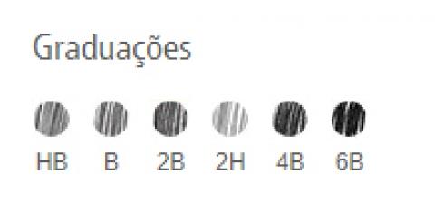 LAPIS STAEDTLER LUMOGRAPH 6 GRAD EST BORR E AP - Papelaria Botafogo