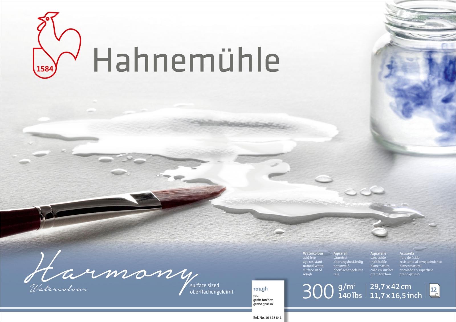 PAPEL HAHNEMUHLE HARMONY WATERCOLOUR, 300 G/M², ROUGH 12fls 29,7X42cm - A3 (10628841)  - Papelaria Botafogo