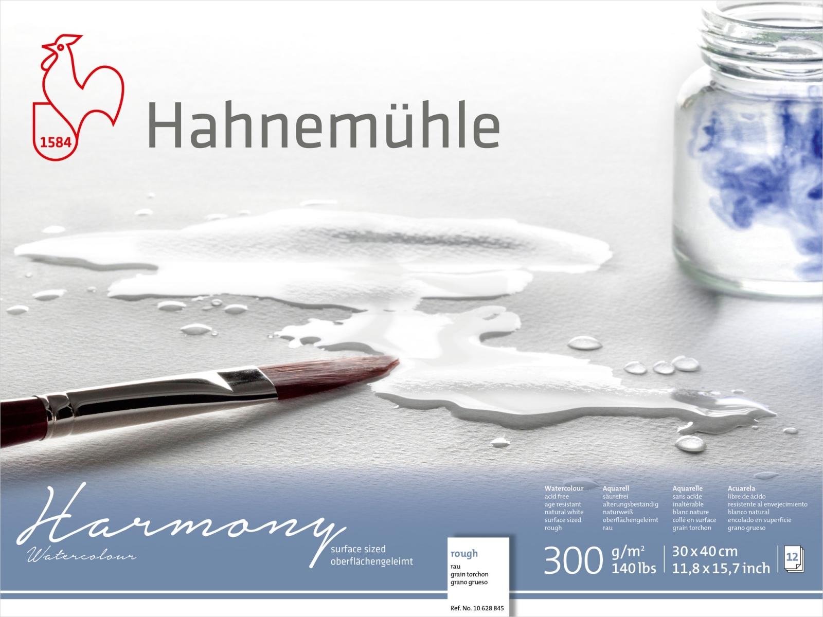 PAPEL HAHNEMUHLE HARMONY WATERCOLOUR, 300 G/M², ROUGH 12fls 30x40 (10628845)  - Papelaria Botafogo