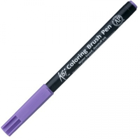 CANETA PINCEL ARTISTICO KOI COLORING BRUSH 224 LIGHT PURPLE - Papelaria Botafogo