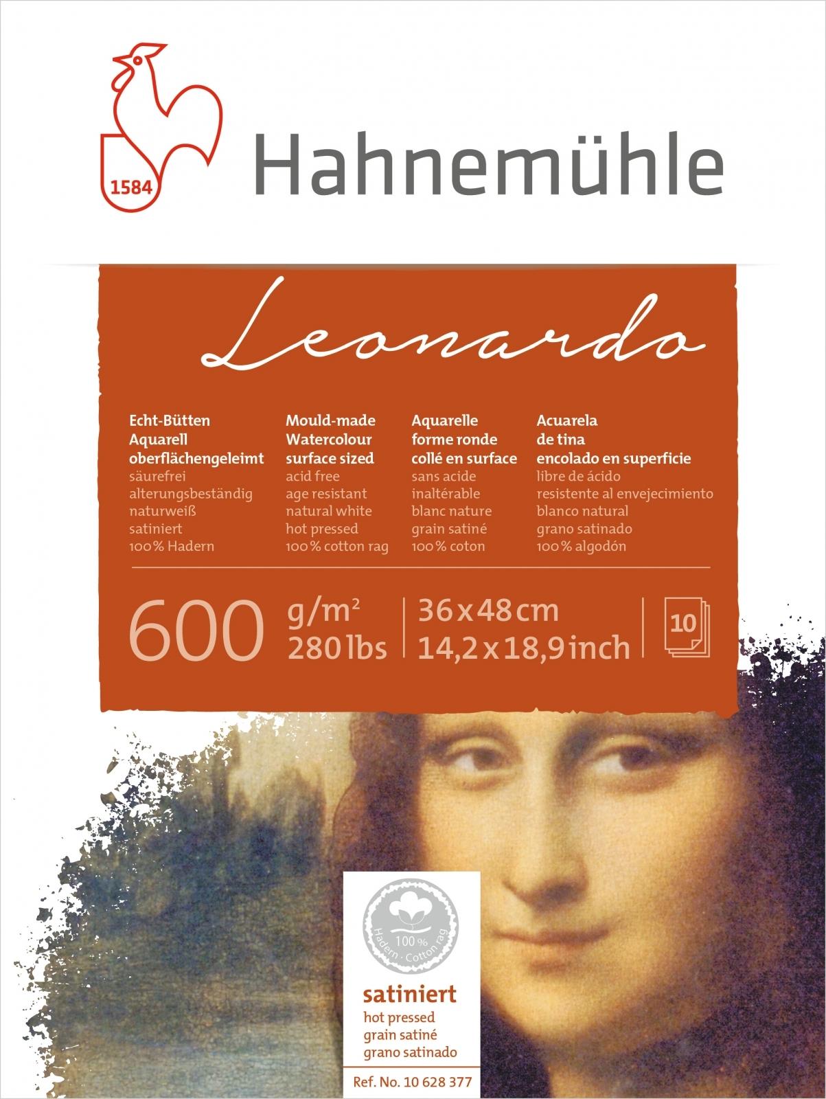 Papel Hahnemuhle Leonardo Textura Satinada 600g/m2 36x48 10f - Papelaria Botafogo
