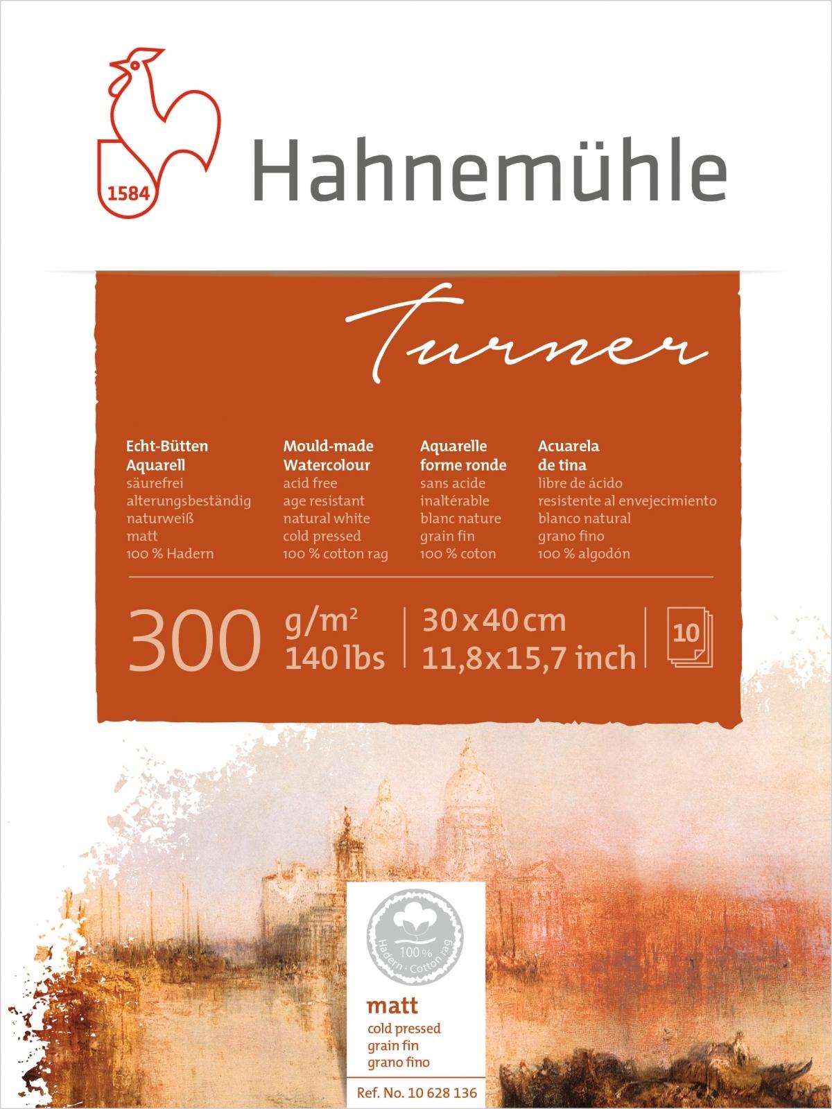 Papel Hahnemuhle William Turner Textura Fina 300g/m2 30x40 10fls (10628136) - Papelaria Botafogo