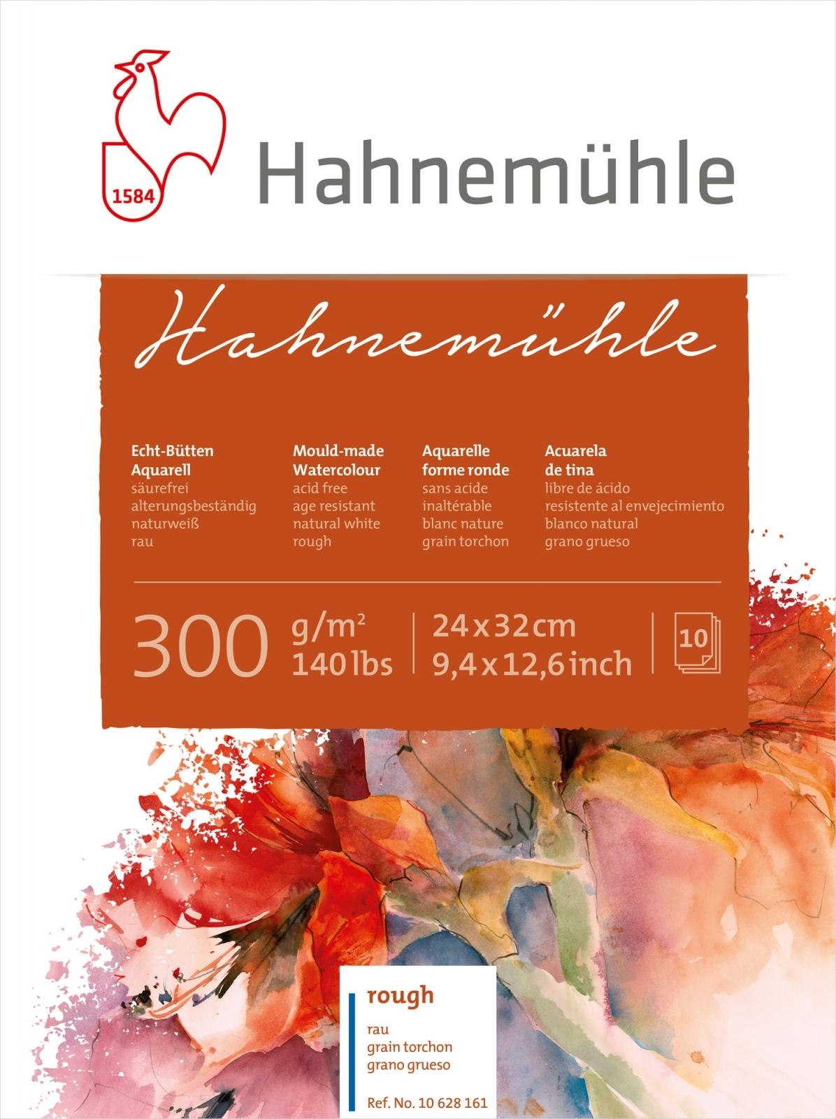 Papel Hahnemuhle Textura Rugosa 300g/m2 24x32 10fls (10628161) - Papelaria Botafogo