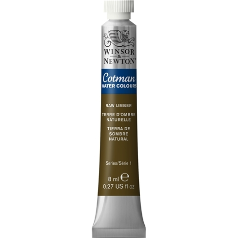 Aquarela Cotman W&N Raw Umber Tubo 8ml (554) - Papelaria Botafogo