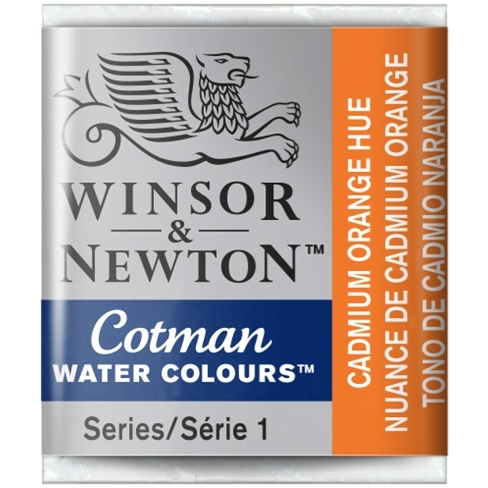 Aquarela Cotman W&N Cadmium Orange Hue Half Pan (Pastilha) ( - Papelaria Botafogo