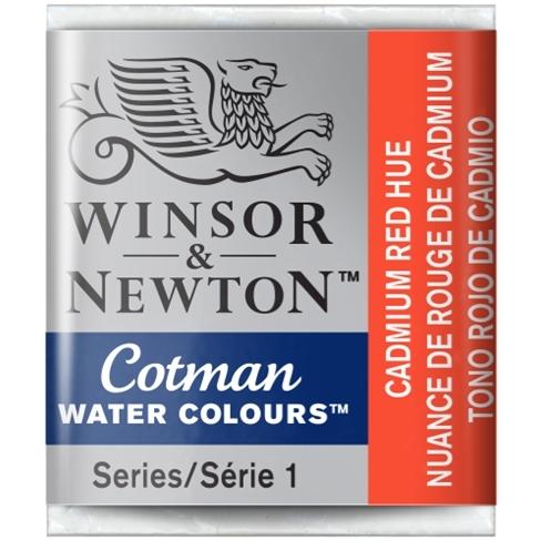 Aquarela Cotman W&N Cadmium Red Hue Half Pan (Pastilha) (095 - Papelaria Botafogo