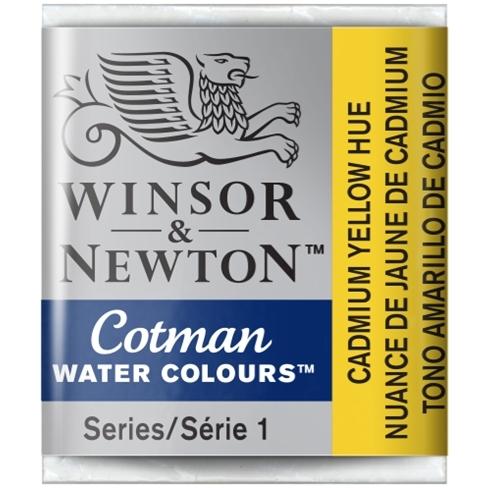 Aquarela Cotman W&N Cadmium Yellow Hue Half Pan (109) - Papelaria Botafogo
