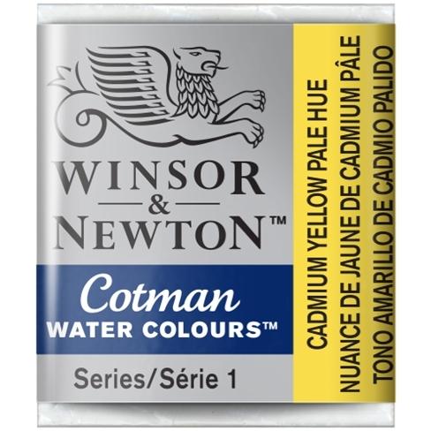 Aquarela Cotman W&N Cadmium Yellow Pale Hue  Half Pan (Pasti - Papelaria Botafogo
