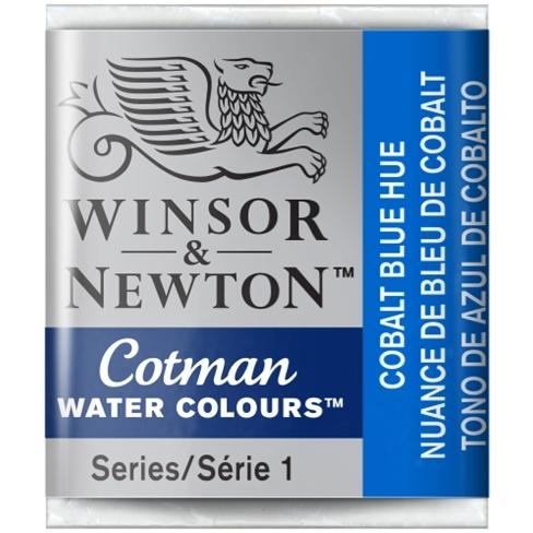 Aquarela Cotman W&N Cobalt Blue Hue Half Pan (Pastilha) (179 - Papelaria Botafogo