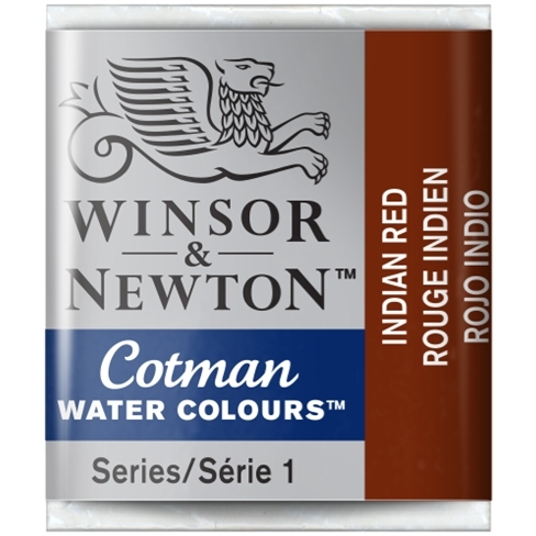Aquarela Cotman W&N Indian Red Half Pan (Pastilha) (317) - Papelaria Botafogo