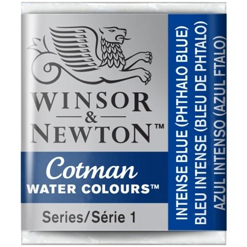 Aquarela Cotman W&N Intense Blue Half Pan (Pastilha) (327) - Papelaria Botafogo