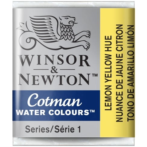 Aquarela Cotman W&N Lemon Yellow Hue Half Pan (Pastilha) (34 - Papelaria Botafogo