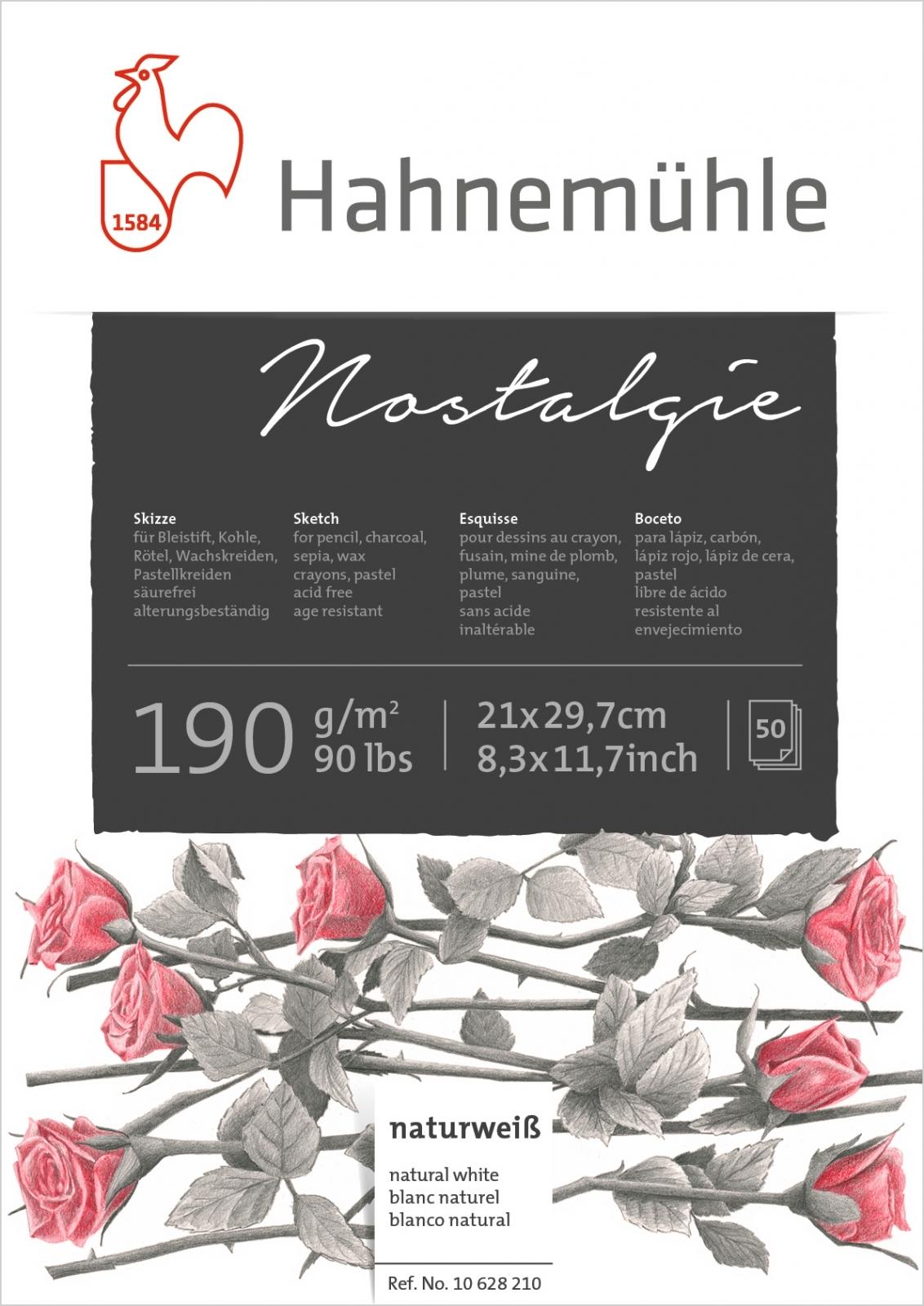 Papel Hahnemuhle Nostalgie 190g/m2 21x29,7 50fls (10628210) - Papelaria Botafogo