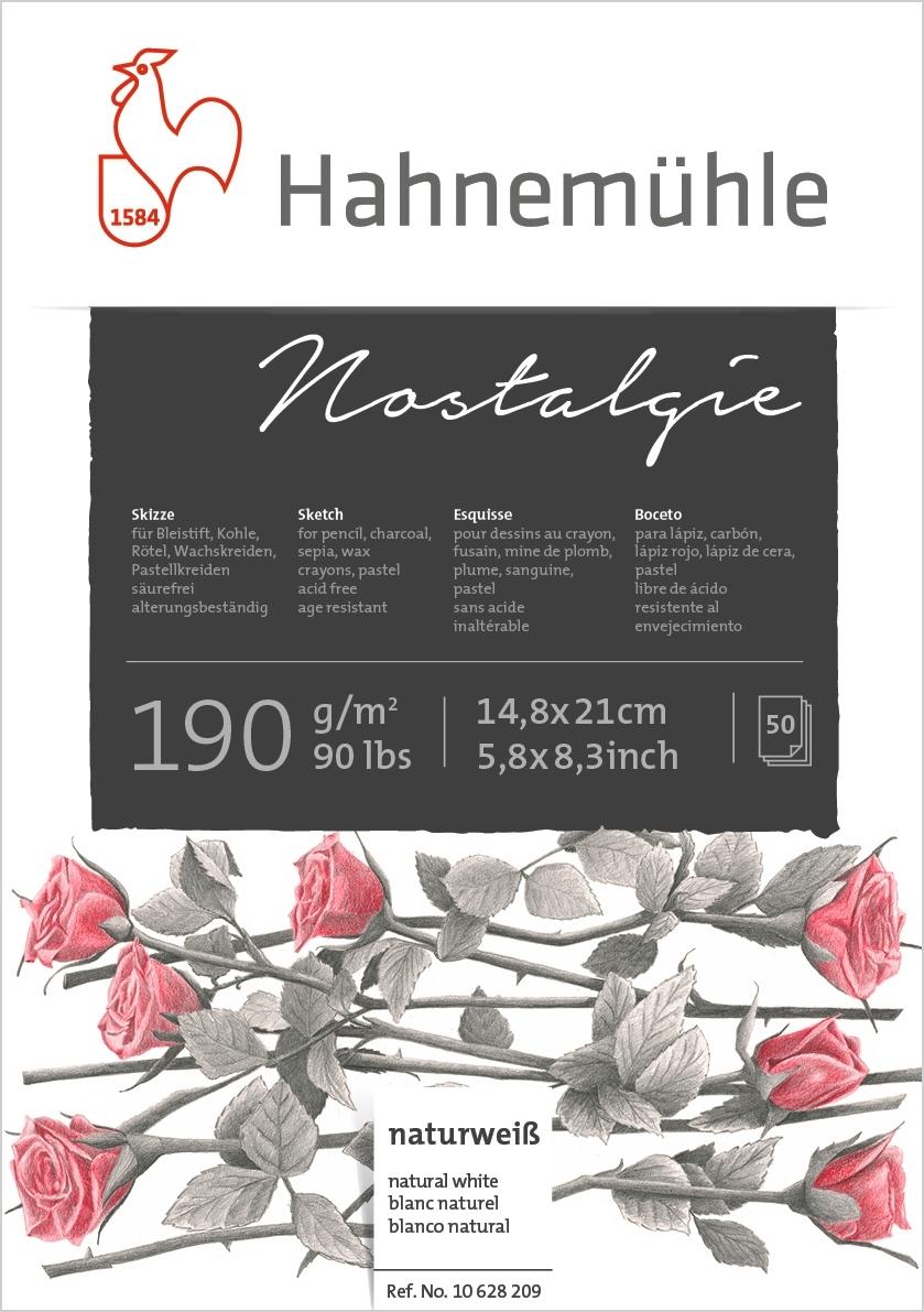 Bloco Hahnemuhle Nostalgie 190g/m2 14,8x21 50fls (10628209) - Papelaria Botafogo