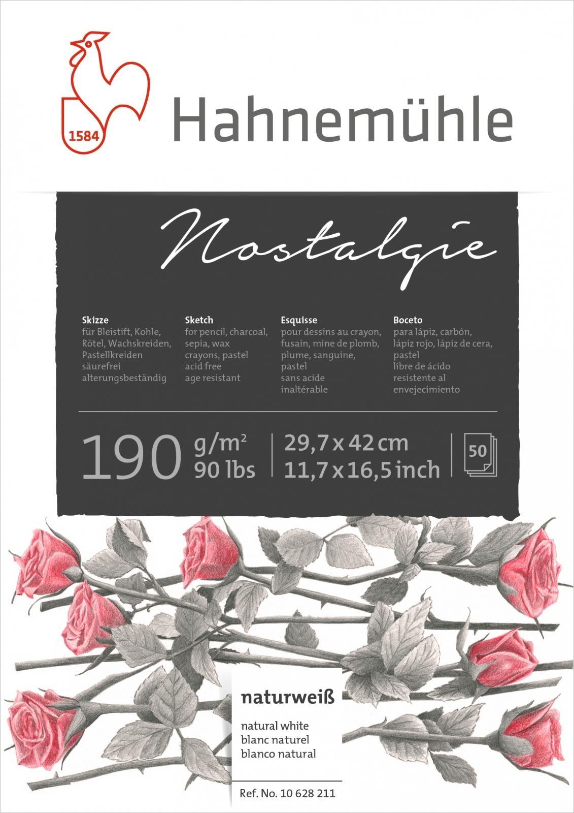 Papel Hahnemuhle Nostalgie 190g/m2 29,7x42 50fls (10628211) - Papelaria Botafogo