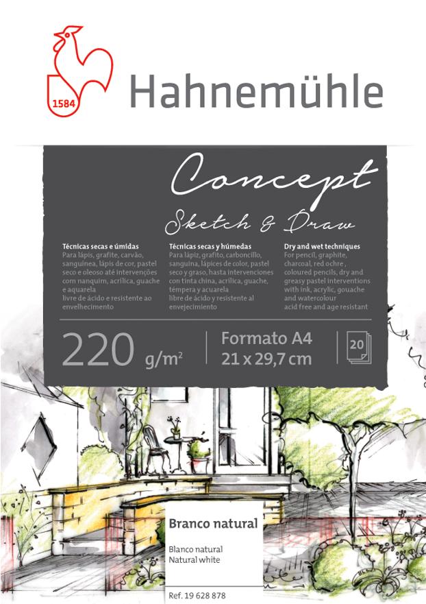Papel Hahnemuhle Concept Sketch & Draw 220g A4 20f(19628878) - Papelaria Botafogo