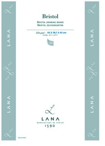 Bloco Lana Bristol 250g  Tam 29,7 x42 (A3) 20 FLS. (15023585) - Papelaria Botafogo