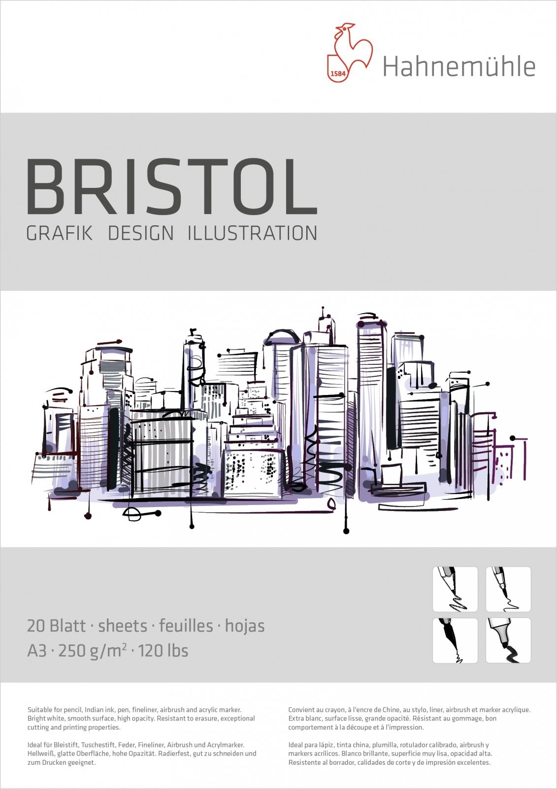 Bloco Bristol 250g Tam 29,7x42 (A3) 20 FLS. (10628723) - Papelaria Botafogo