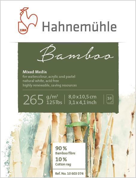 Mini Bloco Hahnemuhle Bamboo 265g/m2 8x10,5 10fls (10603074) - Papelaria Botafogo