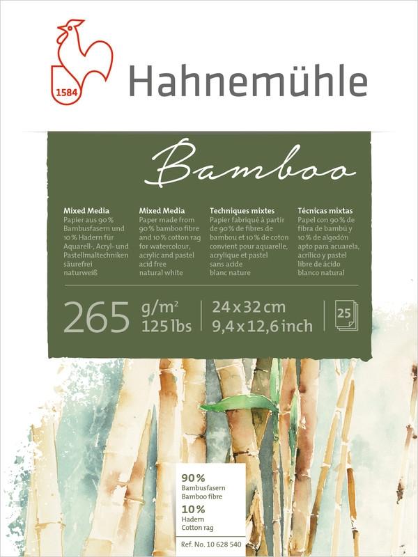 Bloco Hahnemuhle Bamboo 265g/m2 30x40 25fls (10628541) - Papelaria Botafogo