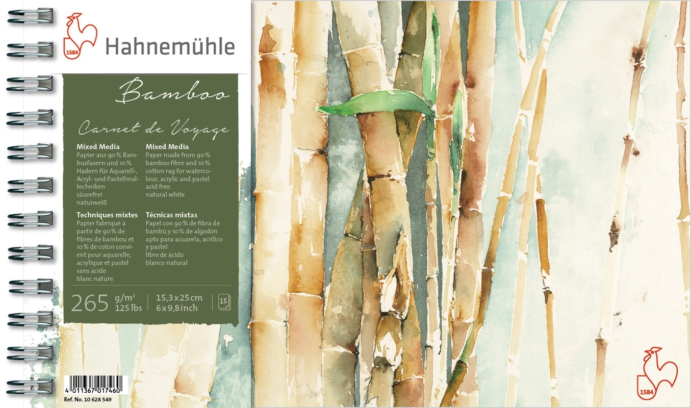 Carnet de Voyage Hahnemuhle Bamboo 265g 15x25 15f(10628549) - Papelaria Botafogo