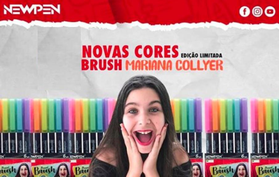 Caneta Brush 6 Cores Tons Pastel Mariana Collyer Newpen - Papelaria Botafogo