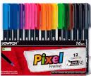 Caneta Newpen Pixel Fineliner Ponta Fina com 12 cores