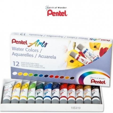 Aquarela Pentel Arts Water Colors com 12 cores (WFRS-12) - Papelaria Botafogo