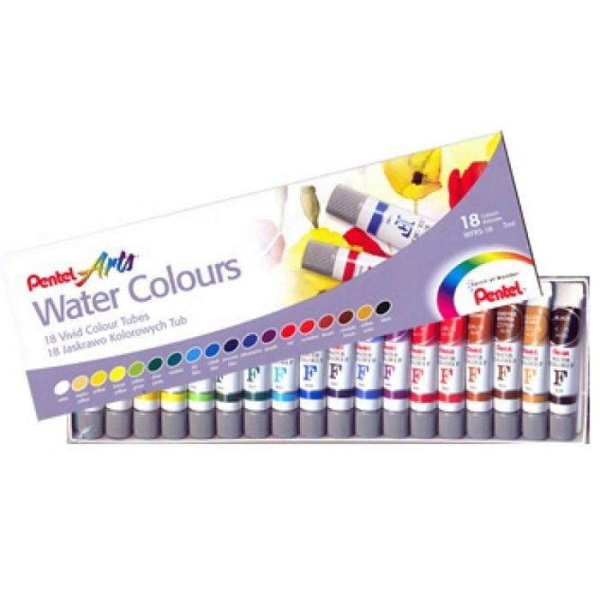 Aquarela Pentel Arts Water Colors com 18 cores (WFRS-18) - Papelaria Botafogo