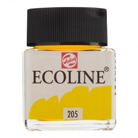 Tinta Aquarela Ecoline Talens Lemon Yellow (Amarelo Limão) 30ml. - Papelaria Botafogo