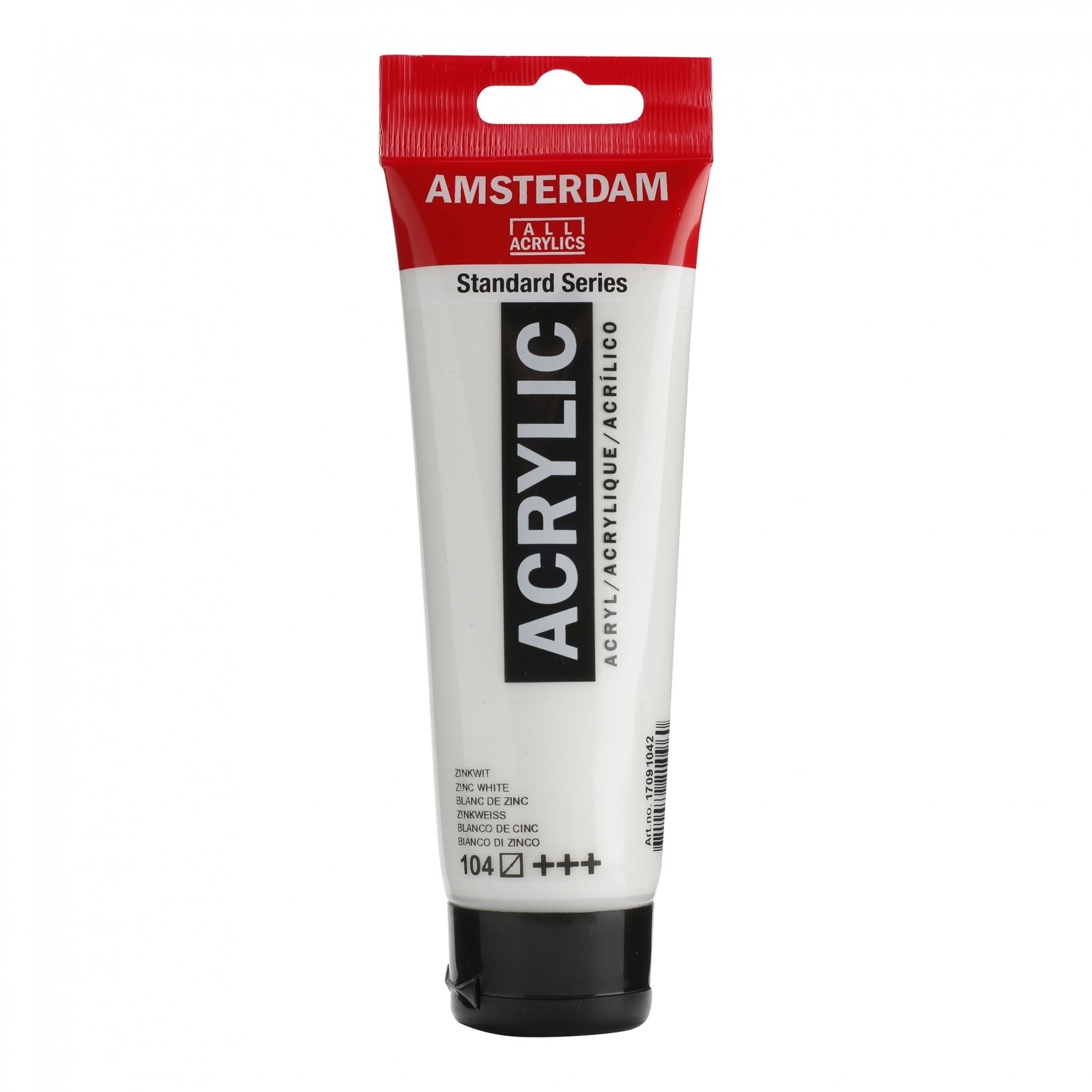 Tinta Acrílica Amsterdam Zinc White 120ml (+++104) - Papelaria Botafogo