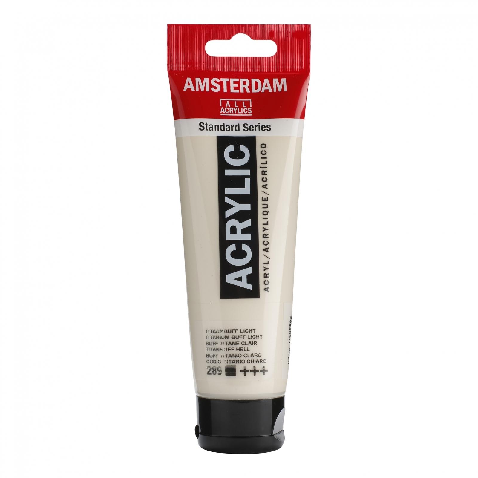 Tinta Acrílica Amsterdam Titanium Buff Claro 120ml (+++289) - Papelaria Botafogo