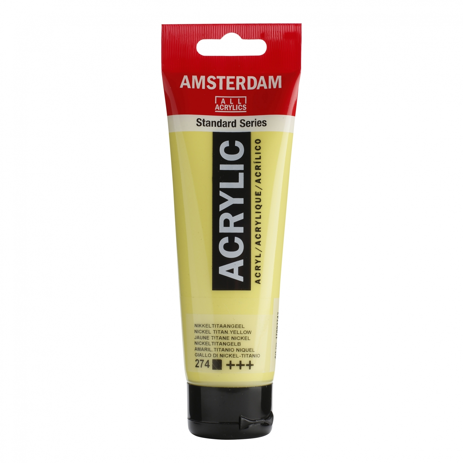 Tinta Acrílica Amsterdam Amarelo Titâneo Nick 120ml (+++274) - Papelaria Botafogo