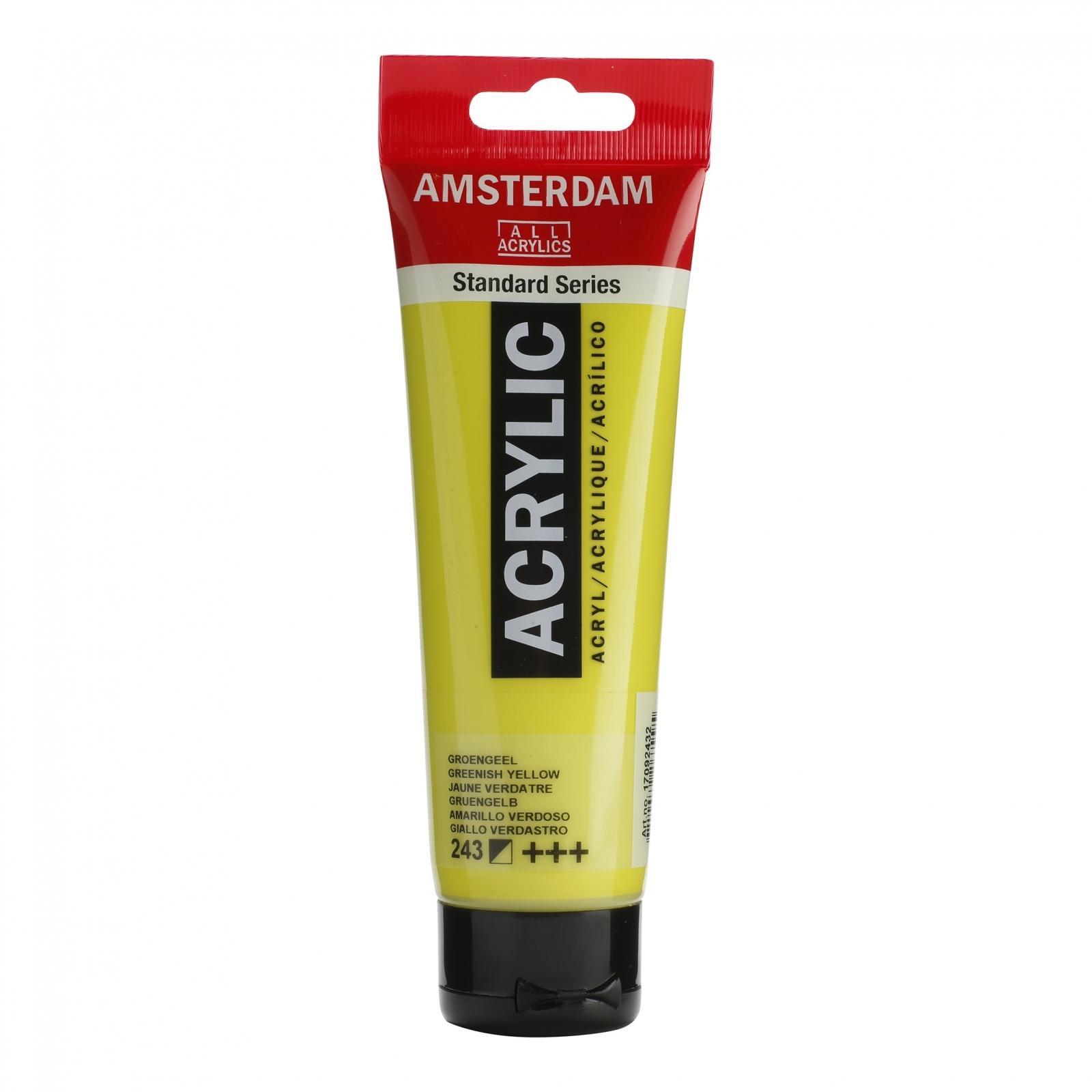 Tinta Acrílica Amsterdam Amarelo Esverdeado 120ml (+++243) - Papelaria Botafogo