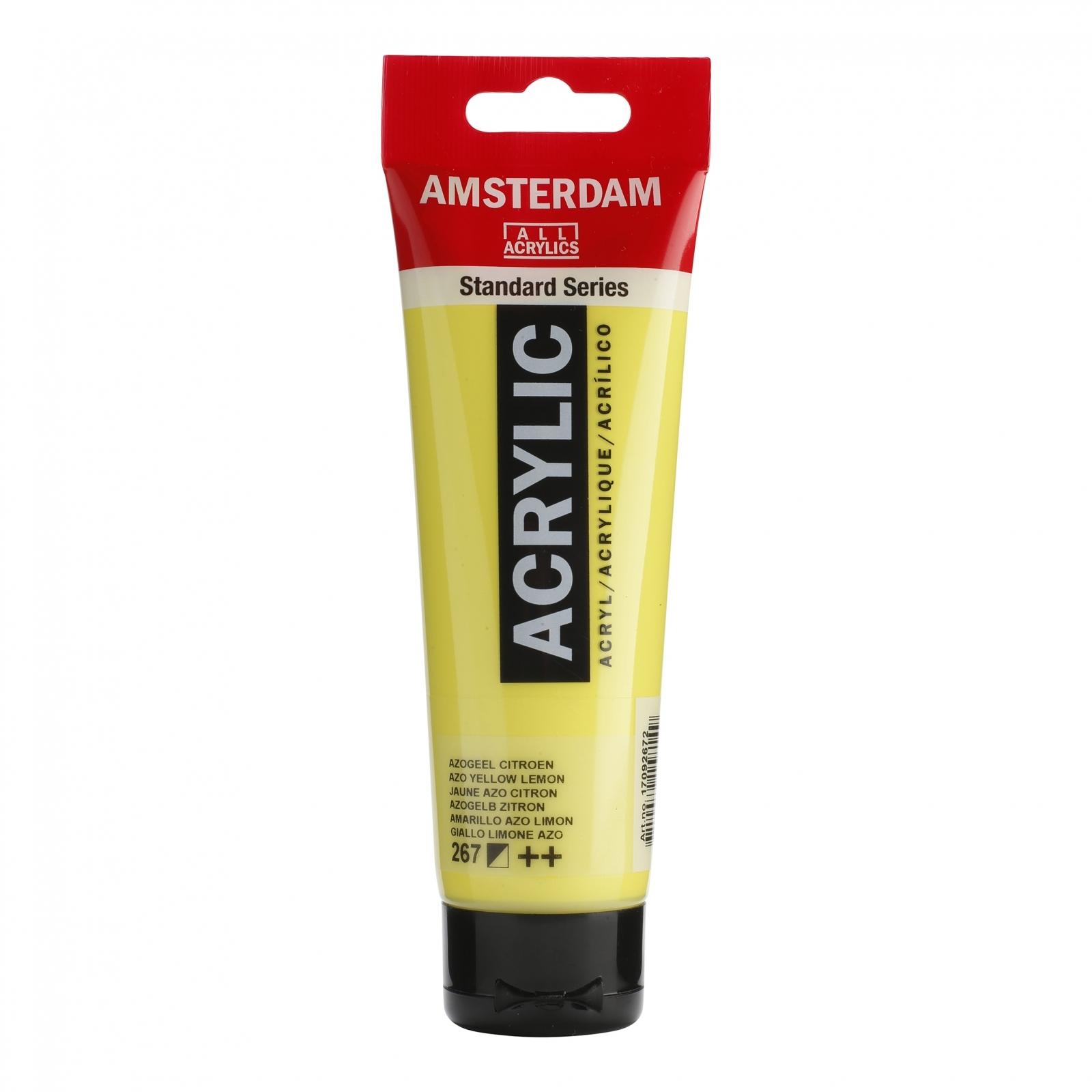 Tinta Acrílica Amsterdam Amarelo Limão Azo 120ml (++267) - Papelaria Botafogo