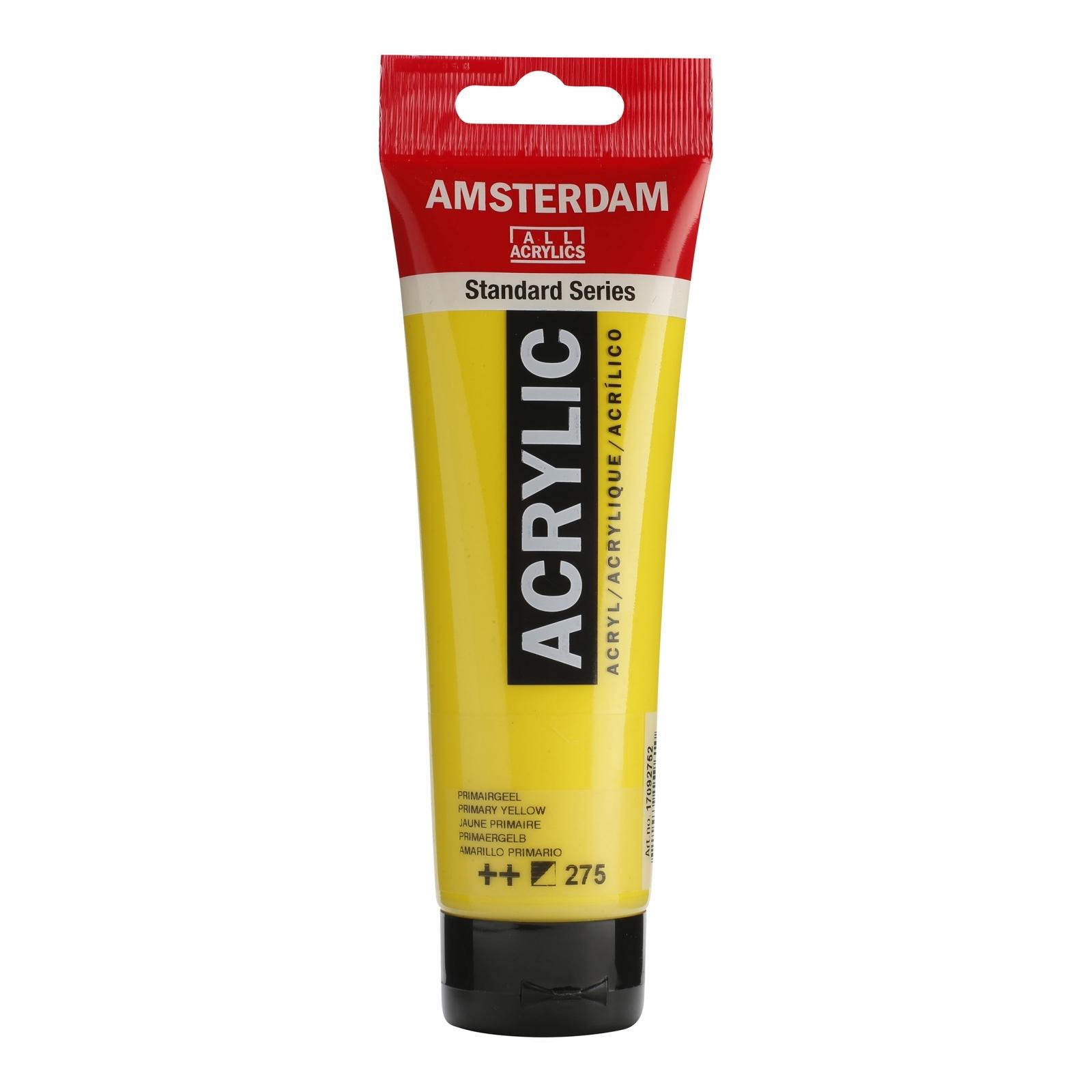 Tinta Acrílica Amsterdam Amarelo Primário 120ml (++275) - Papelaria Botafogo