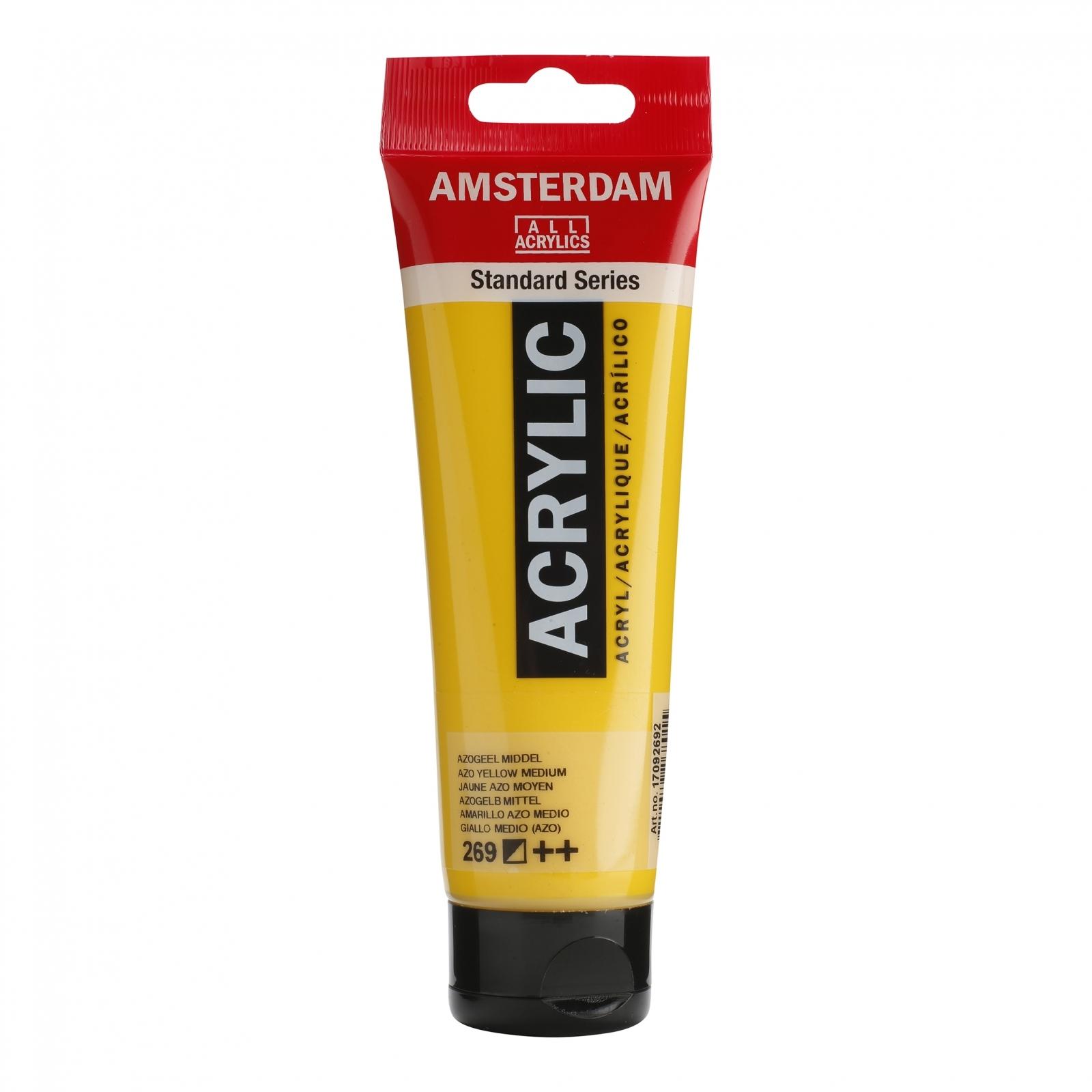Tinta Acrílica Amsterdam Amarelo Azo Médio 120ml (++269) - Papelaria Botafogo