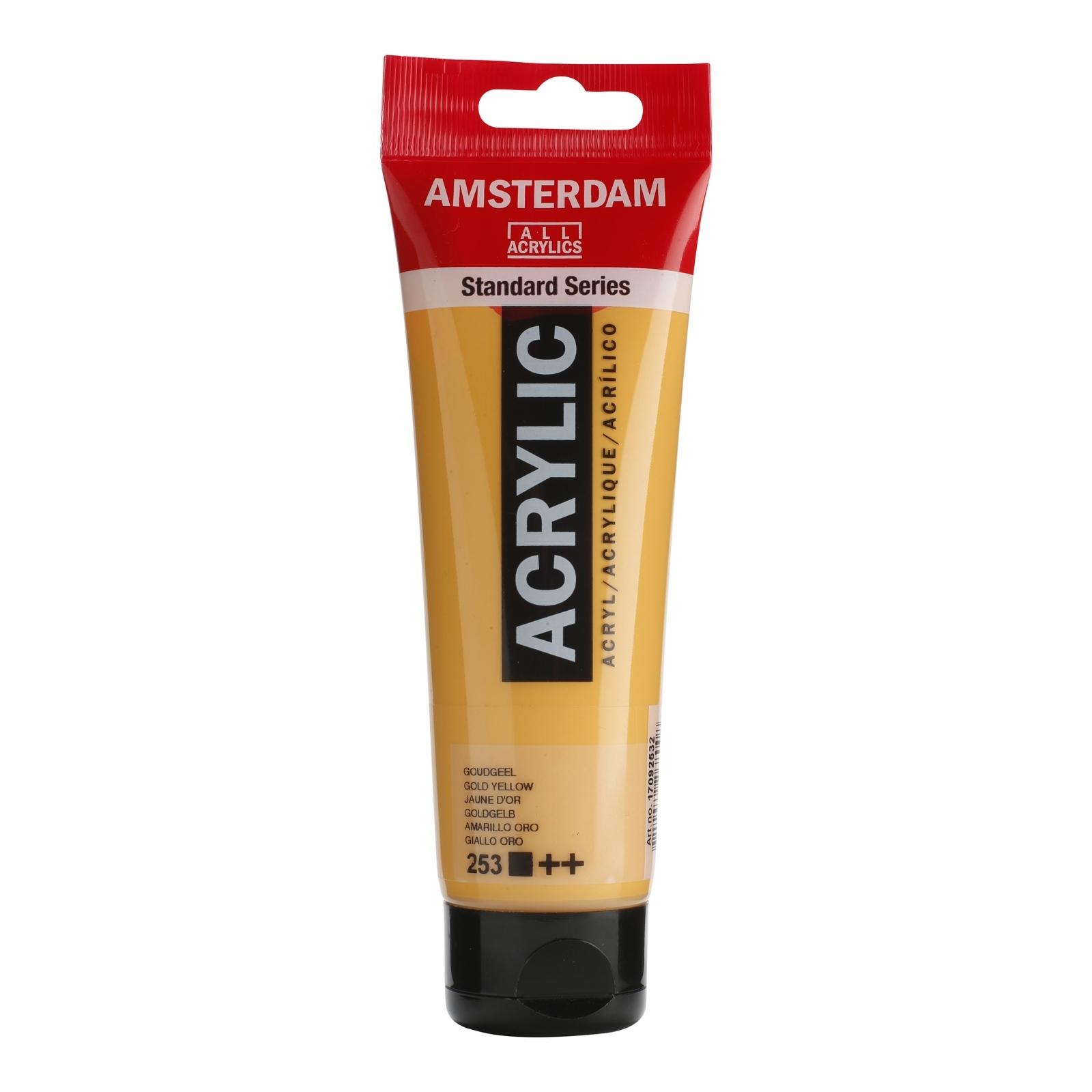 Tinta Acrílica Amsterdam Amarelo Dourado 120ml (++253) - Papelaria Botafogo
