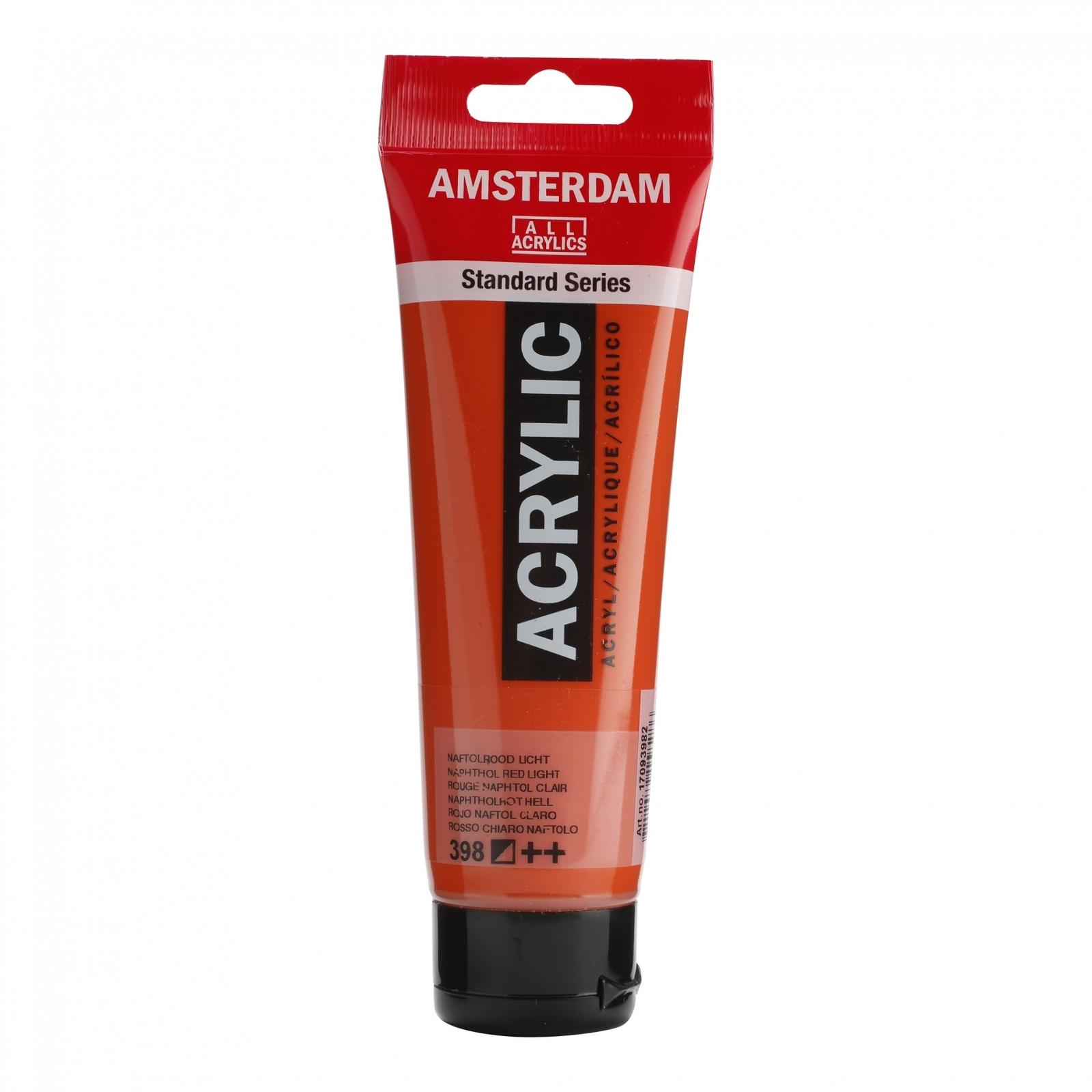 Tinta Acrílica Amsterdam Vermelho Naphthol Claro 120ml (++398) - Papelaria Botafogo