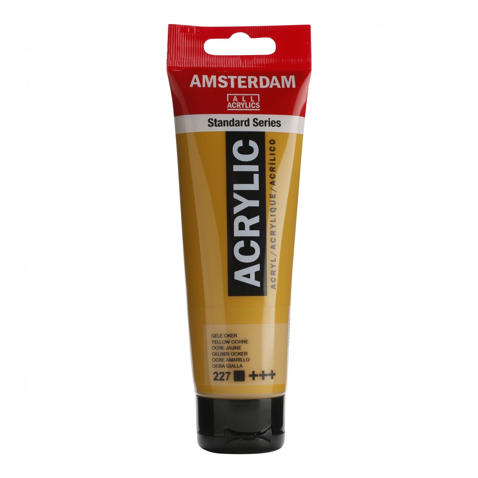 Tinta Acrílica Amsterdam Amarelo Ocre 120ml (+++227) - Papelaria Botafogo