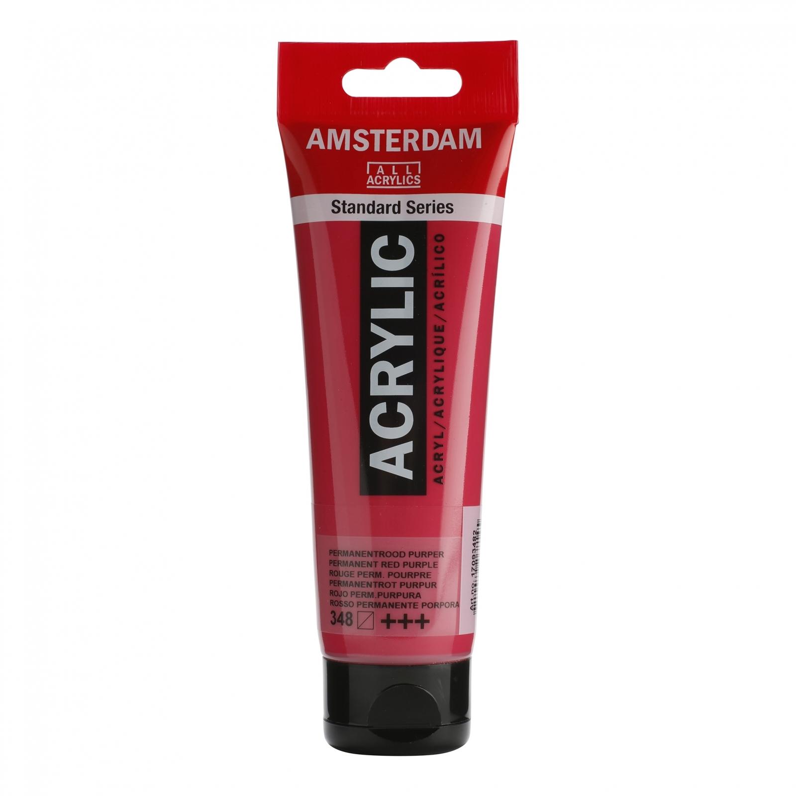 Tinta Acrílica Amsterdam Vermelho Purpura Permanente 120ml (+++348) - Papelaria Botafogo