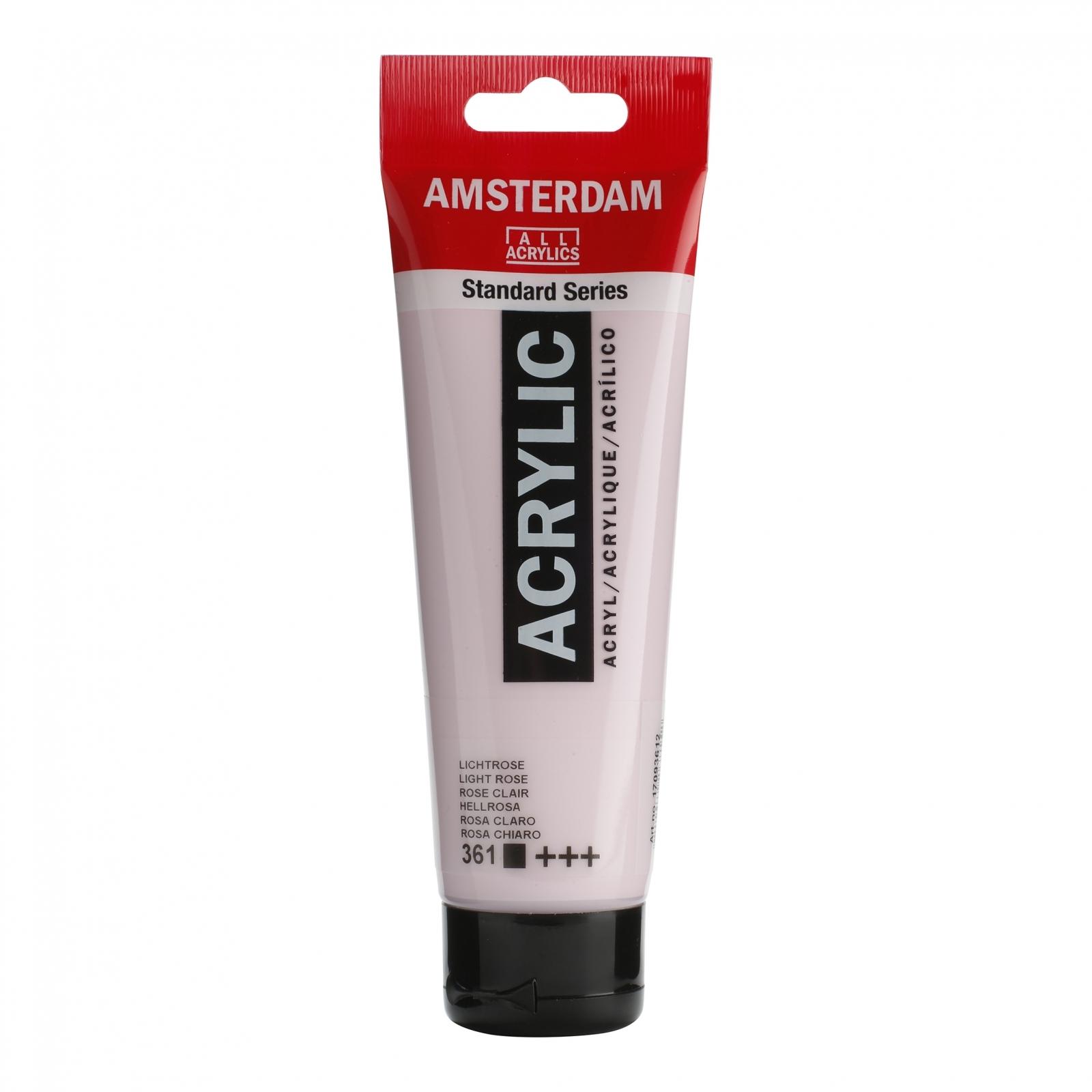 Tinta Acrílica Amsterdam Rosa Claro 120ml (+++361) - Papelaria Botafogo
