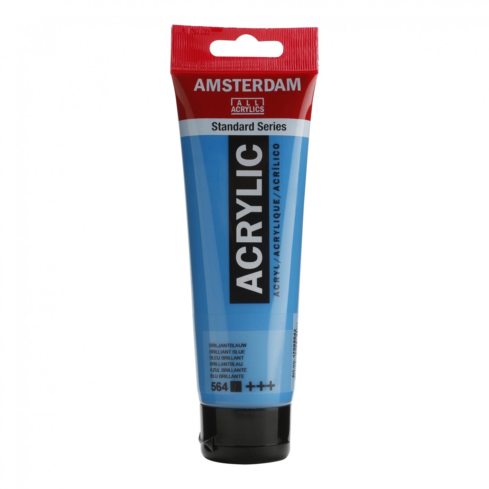 Tinta Acrílica Amsterdam Azul Brilhante 120ml (+++564) - Papelaria Botafogo