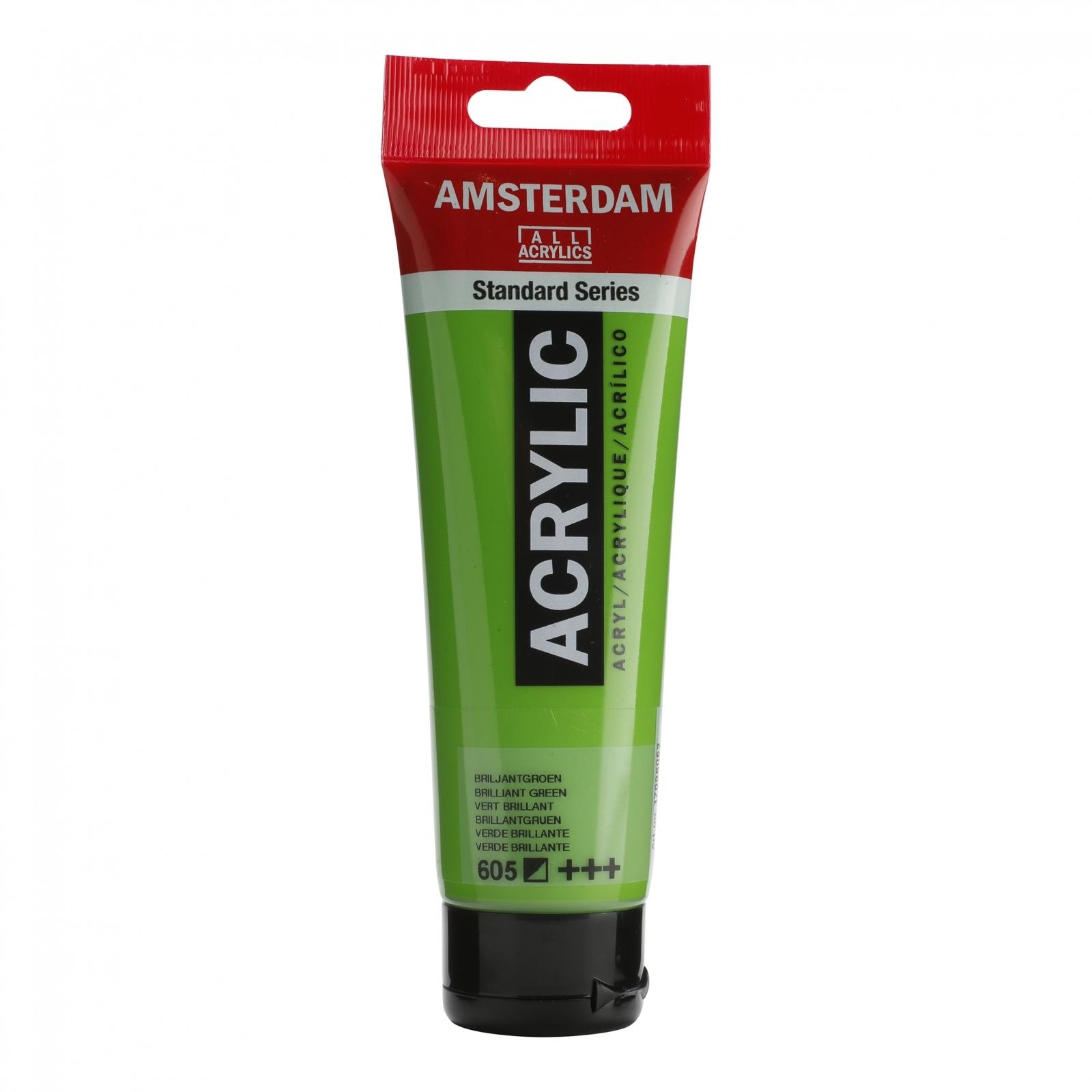 Tinta Acrílica Amsterdam Verde Brilhante 120ml (+++605) - Papelaria Botafogo