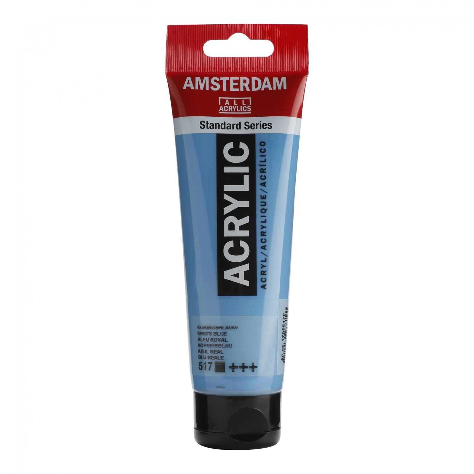Tinta Acrílica Amsterdam King's Blue 120ml (+++517) - Papelaria Botafogo