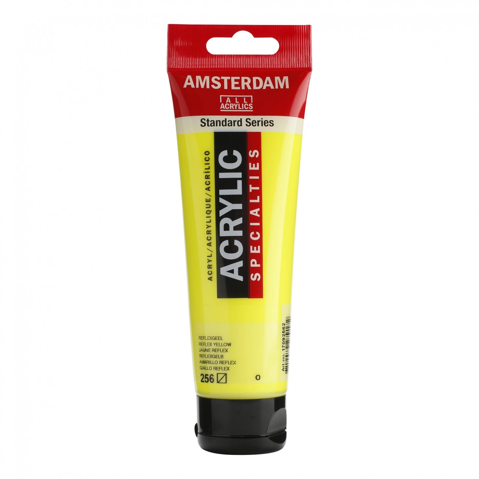 Tinta Acrílica Amsterdam Amarelo Reflex 120ml (º256) - Papelaria Botafogo