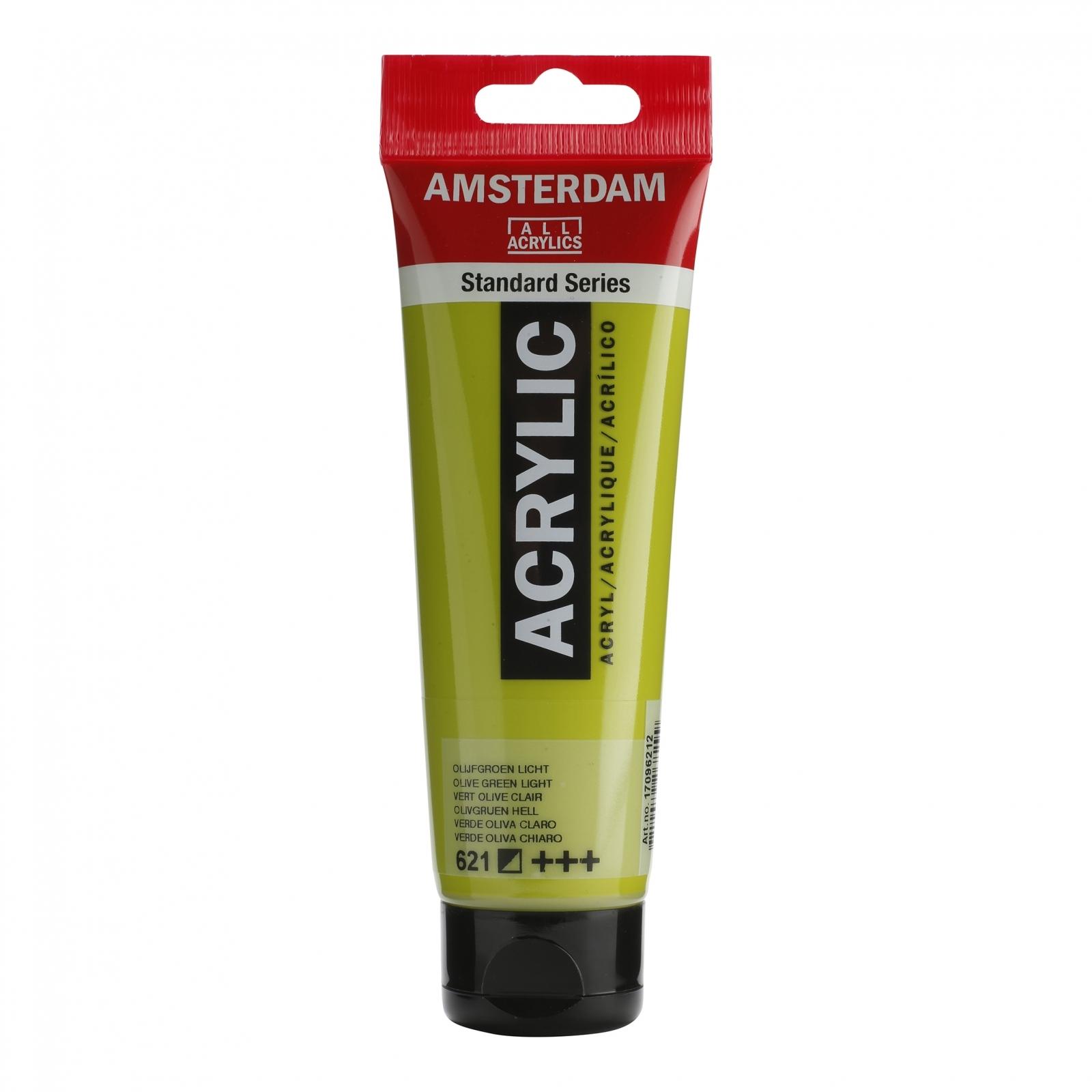 Tinta Acrílica Amsterdam Olive green Claro 120ml (+++621) - Papelaria Botafogo